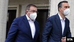 Здравният министър Костадин Ангелов и кметът на Бургас Димитър Николов.