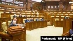 Молдова парламентининг мухолифатчи депутатларсиз ўтган сессияси, Кишинев, 2020 йил 16 декабри