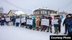 Митинг в Ижме. Фото Николая Братенкова