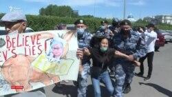 «Ослиная демократия». Протест у здания посольств ЕС и задержания