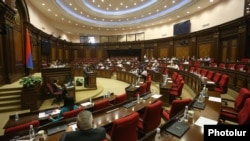 Armenia - The outgoing Armenian parliament holds its final session in Yerevan, July 30, 2021.