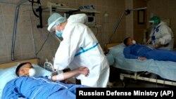 Un spital militar din Moscova. 15 iulie 2020