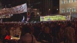 Greek Riot Police Battle Demonstrators