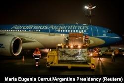 """Отправка вакцины """"Спутник V"""" в Аргентину, 23 декабря 2020 года"""
