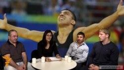 Ըմբշամարտի մեդալակիրները՝ «Ազատություն» TV-ի ստուդիայում
