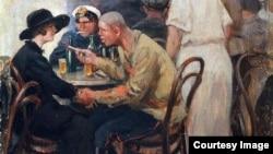 Иван Владимиров. Некому защитить, 1920-е. Фрагмент картины.
