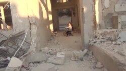 Suriyanın bombalanma anı - AzadlıqRadiosunun görüntüləri