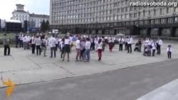 Сумчани відсвяткували День вишиванки «живим» гербом та ходою українських пісень