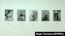 Fotografi të Bekim Fehmiut, gjatë një vizite të tij në Shqipëri në kohën e komunizmit.