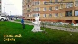 В Сибири снег выпал в мае
