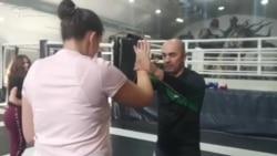 Осетия. Девушек учат драться