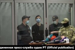 Ильназ Галявиев в суде во время избрания ему меры пресечения, 12 мая 2021 года