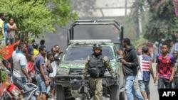 Поглед на улица во главниот град Порт-о-Пренс по атентатот врз шефот на државата. (08.07.2021)
