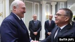Александр Лукашенко и Рене Фазель, Минск, 11 января 2021 года
