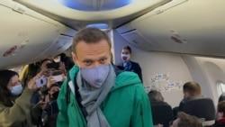 Navalny Boards Flight For Russia