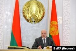 Minsk. A.Lukaşenka Howsuzlyk geňeşiniň mejlisini geçirýär. 19-njy awgust, 2020. August 19, 2020
