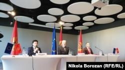 Liderët në Mal të Zi në konferencën e përbashkët për media.