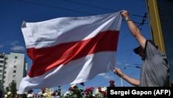 Акция протеста в Минске. 11 августа 2020 года.