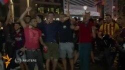 Барселона ишқибозлари жамоанинг УЕФА ЧЛ финалига чиққанини қутламоқда