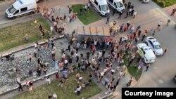 Народный сход в Мурино. (скриншот с видео)