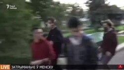 Затрыманьне журналістаў Свабоды падчас жывой трансьляцыі. ВІДЭА