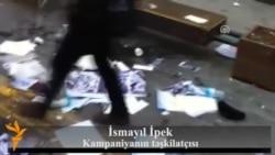 Polis Ankarada Xocalı stendinə hücumu araşdırır...