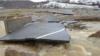 Rruga Rud-Sferkë në Malishevë e dëmtuar nga vërshimet në fillim të muajit janar 2020.