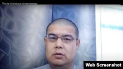 Туркменский активист Мурат Душемов. (фото из видеообращения активиста в YouTube)