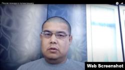 Фрагмент видео туркменского активиста Марата Душемова