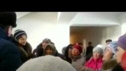 В Нарыне прошел пикет уличных торговцев
