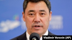 """Kyrgyz President Sadyr Japarov has praised the constitutional changes, which he initiated, saying they are needed to create a strong central branch of government to """"establish order."""""""