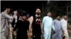 Afghanistan - people chant Allahu Akbar in protest against the Taliban - Kabul - screen grab