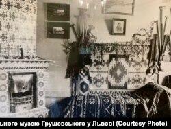 Фото гуцульської кімнати за життя Михайла Грушевського у Львові
