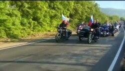 """Putin """"Gecə canavarları"""" klubunun Krımdakı tədbirinə motosiklla getdi"""