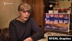 Մարտի 1-ի զոհերից Հովհաննես Հովհաննիսյանի այրին՝ Լիլիա Մինասյանը։