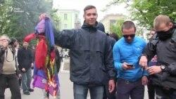 У Харкові побилися та зірвали акцію ЛГБТ (відео)