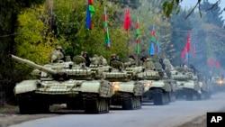 Az azeri erők vonulnak Agdam felé, 2020. november 20.