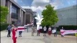 Беларуская акцыя салідарнасьці ў Брусэлі