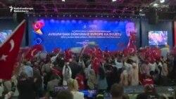 Miting electoral pentru alegerile din Turcia la ...Sarajevo.