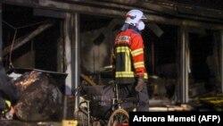 Тетово 08.09.2021, Пожар во ковид центарот во Тетово