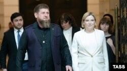 Глава Чечни Рамзан Кадыров и министр культуры России Ольга Любимова