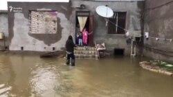 'Quşçuluq massivi'ndə evləri su basıb