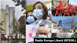 Республика Молдова, 15 ноября, второй тур президентских выборов. Коллаж.