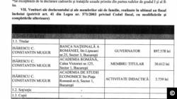 Declarație de avere Mugur Isarescu