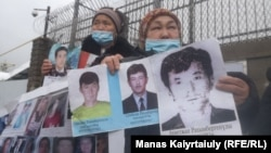 Dozens of ethnic Kazakhs from China have been picketing the Chinese Consulate in Kazakhstan's largest city, Almaty, for more than a month over relatives being held in Xinjiang.