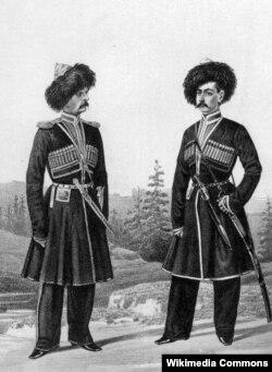 Обер-офицер и всадник Дагестанского конно-иррегулярного полка, 1851–1855 Висковатый А.В. (Википедия)