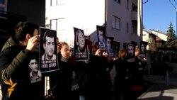 Prosvjed pred Veleposlanstvom Azerbejdžana u Zagrebu