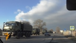 Кырымда хәрби машиналар кәрваны