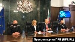 Главный прокурор Болгарии Иван Гешев во время брифинга, 19 марта 2021 года