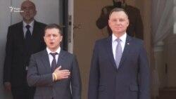 Зеленський зустрівся у Варшаві із президентом Дудою